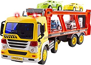 YEAM Transport Car Toy ,Carrier Truck with Sound and Light Play Vehicles Toys Set for Boys, Kids, Toddlers