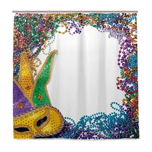 DYCBNESS Duschvorhang,Karneval Feiertagsikonen Farbdruck,Vorhang Waschbar Langhaltig Hochwertig Bad Vorhang Polyester Stoff Wasserdichtes Design,mit Haken 180x180cm