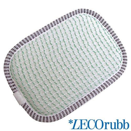 LECOrubb Massageschwamm, Peelingschwamm für sanftes, intensives Peeling der Haut, Grün