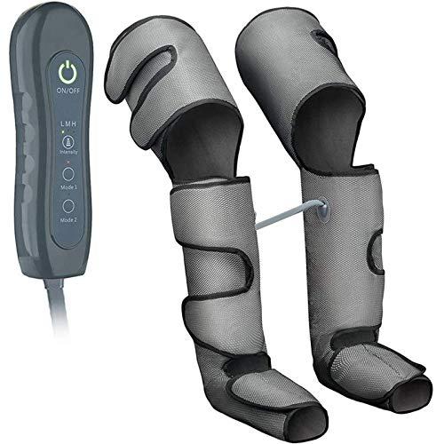 ZYFWBDZ Masajeador de piernas y pies, Masaje de compresión de circulación Desde la Pantorrilla hasta el Muslo, masajeador de pies de Pierna Caliente amasadora, con Controlador