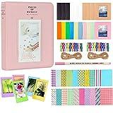 Anter Photo Album Accesorios para Fujifilm Instax Mini Camera, HP Sprocket, Polaroid Zip, Snap, Snap Touch Impresora Films con Film Stickers, Album & Frame (64 Pocket, Pink B)