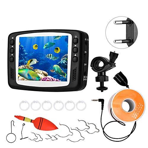 Preisvergleich Produktbild Unterwasserkamera, Tauchkamera / Unterwasser-Farbkamera 3, 5-Zoll-HD-IR-Nachtsichtlampe Licht Video Fisch Detector See Unterwasser Fisch Kamera 100-240 V (15-100-240)