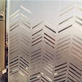 Película de ventana duradera de privacidad Cristal de la película sin pegamento reutilizables helados flechas Patrón Decoración contacto protección de lámina for ventanas for la ventana corrediza puer