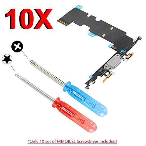 MMOBIEL 10er Pack Dock Connector kompatibel mit iPhone 8 Plus 5.5 inch (Schwarz) Ladebuchse Lade Port inkl. Werkzeug