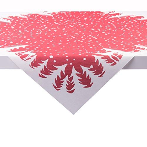 Sovie HORECA Tischdecke Marvin in Bordeaux | aus Linclass® Airlaid | Weihnachtsdecke Advent | 80 x 80 cm | 20 Stück