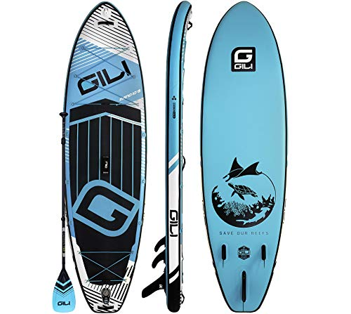 GILI Meno Inflatable Stand Up Paddle Board: Stable, Rigid SUP with an Extra Wide Stance: 10'6 or 11'6 Long x 35