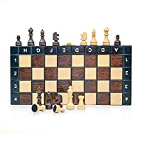 Scacchiera in Legno Professionale Scacchi - Chess, Scacchiere Set Portatile Gioco da Viaggio per Adulti Bambini 26 x 26 cm #5