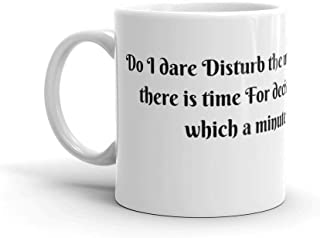 Tyna Ho T.S. Eliot Perfect Gift For Everyone Gift For Coffee Lover Unique Coffee Mug, Coffee Cup Gift For Coffee Lover This Coffee Mug Has A Hefty But Classic Feel