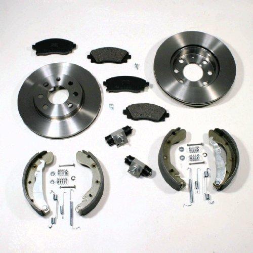 Bremsscheiben/Bremsen + Beläge + Bremsbacken Set vorne + hinten