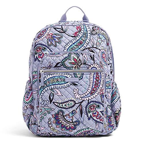 Vera Bradley Women's Signature Cotton Campus Backpack, Makani Paisley, One Size