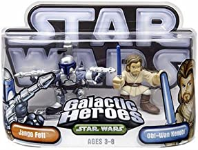 Star Wars Galactic Heroes Episode 2 Junior Figure 2 Pack Jango Obi-Wan