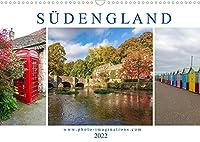 Bezauberndes Suedengland (Wandkalender 2022 DIN A3 quer): Die Fotoreise von Cornwall bis Kent fuehrt entlang bizarrer Kuesten, lieblicher Landschaften und altehrwuerdiger Doerfer. (Monatskalender, 14 Seiten )