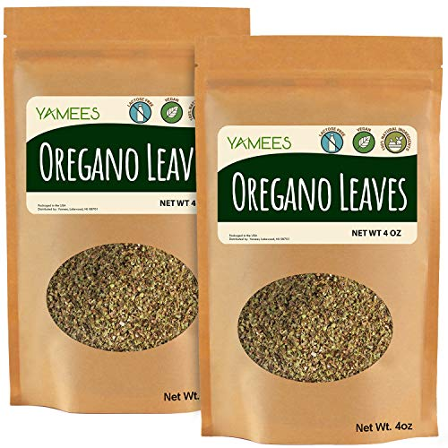 Yamees Oregano - 8 Oz (4 Oz Each) – Dried Oregano – BULK Oregano – Dry Oregano – Oregano Leaves - BULK Spices