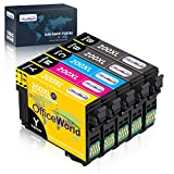 OfficeWorld Remanufactured Ink Cartridge Replacement for Epson 200 XL 200XL Used for XP-200 XP-310 XP-400 XP-410 XP-300 WF-2520 WF-2540 WF-2530 Printer, 5-Pack (2 Black, 1 Cyan, 1 Yellow, 1 Magenta)
