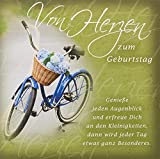Perleberg Geburtstagskarte Romantica - Fahrrad - 15 x 15 cm, 7750043-2