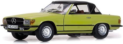 hasta un 60% de descuento Sunstar Sunstar Sunstar 4568 Mercedes Benz 350SL- Cabriolet Capote Escala 1 18amarillo  compra en línea hoy