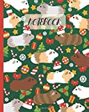 Notebook: Cute Guinea Pigs Cartoon & Christmas Party - Lined Notebook, Diary, Track, Log & Journal -...