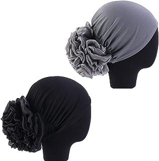 1Pack / 2Packs Women Flower Elastic Turban Beanie Head Wrap Chemo Cap Hat