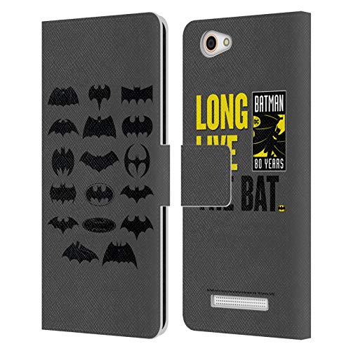 Head Hülle Designs Offizielle Batman DC Comics Comic Logos Leder Brieftaschen Huelle kompatibel mit Wileyfox Spark X