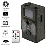 'leshp Wild Appareil photo Caméra de chasse infrarouge 12MP Dual COMS Caméra de surveillance Vision nocturne 20m/IP54/2LCD/120° TF Max 32Go hc300a