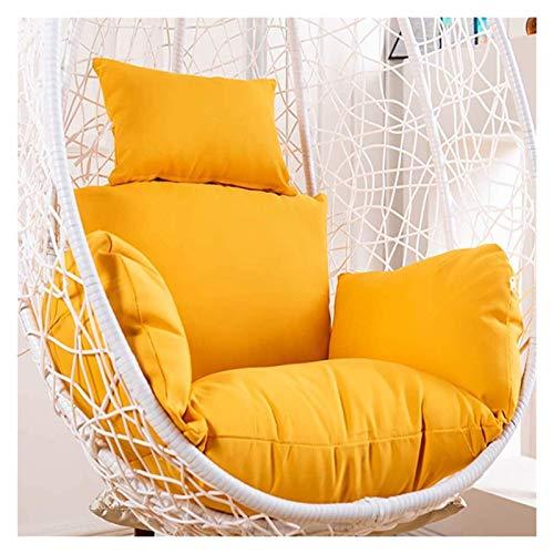 XiYou Cuscino per Sedia per mobili da Giardino, Schienale Addensato Senza Supporto, Cuscino per Sedia Amaca a Uovo sospeso sostenibile, Cuscino per Sedia Altalena in Vimini Impermeabile (Verde)