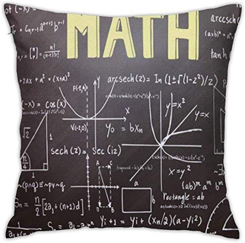 ABCEEEK Throw Kissenbezug/Pillow Covers,Square Decorative Throw Pillow Cases for Sofa Bedroom Car Tinmun Lunch Math Mathematics Formulas On Chalkboard Education Industry Tutor Neoprene Women Men
