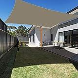 Ankuka Waterproof Sun Shade Sail Canopy Rectangle UV Block for Outdoor Patio and Garden, Yard Activities (8' x 10', Khaki)