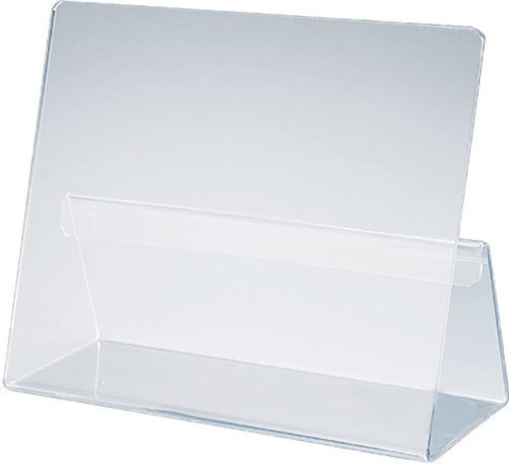 The Classic All-Acrylic Cookbook Holder in a Clear Bag Presentation with Label