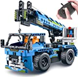 burgkidz STEM Toys Building Sets for Kids, Building Blocks 2 in 1 Truck Toys and Crane Truck Toys with Remote Control, STEM Building Toys Set for Kids - Ages 6 Years Old, Boy & Girls Toys Gift
