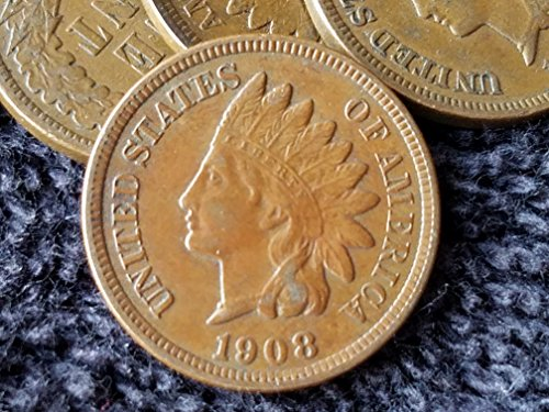1908 U.S. Indian Head Full LIBERTY Cent/Coin Penny Circulated