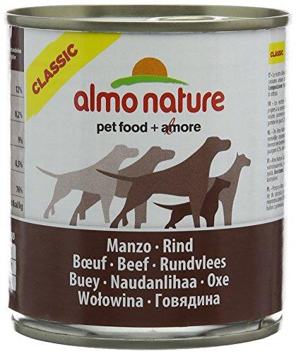 almo nature Comida Húmeda para Perros Natural de Buey (12 latas x 290 g). Alimento para Perros Monoproteíco Enlatado HFC Cuisine. Snack Complementario sin Gluten.
