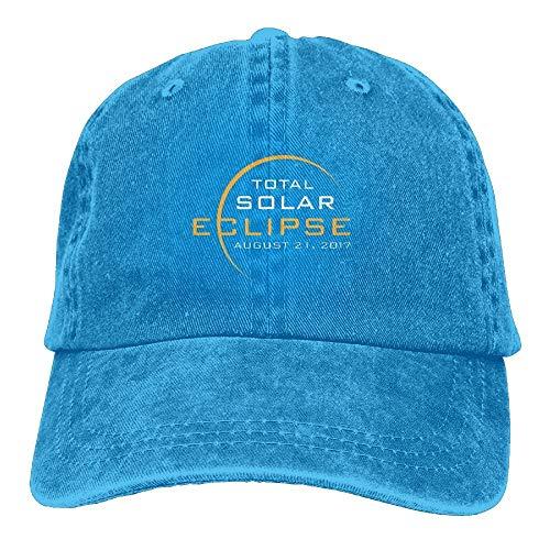 Wdskbg Total Solar Eclipse 2017.png Unisex-verstellbare Baseballmützen Denim-Hüte Cowboy Sport Outdoor Multicolor53