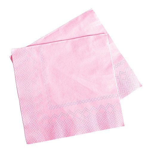 Lot Of 50 Light Pink Beverage Bar Baby Shower Party Napkins - 5 by Rhode Island Novelty