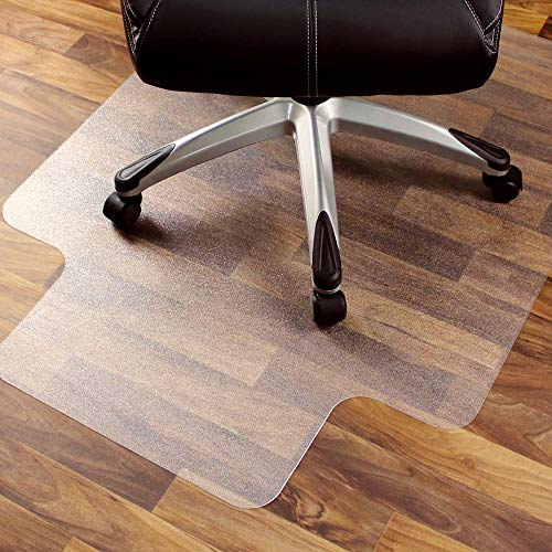 Price comparison product image Clear Hard Floor Chair Mat with Lip 48''x36'' Office Tanspanrent Thick Floor Protection Chair Mat PVC Hard Floor Mat 2.5 mm Thick Flat Mat for Hard Floor