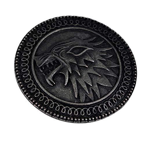 JiuErDP Canción de Hielo y Fuego Targaryen Insignia del dragón Esmalte Broche de Cuello de Solapa la Insignia (2 Unidades) Broches y alfileres (Color : A)