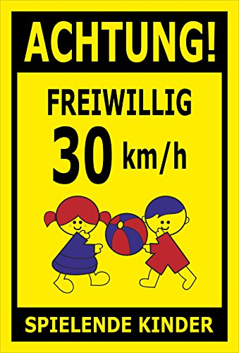 Melis Folienwerkstatt sticker schild - Willig 30 km/h - S00040-027-C