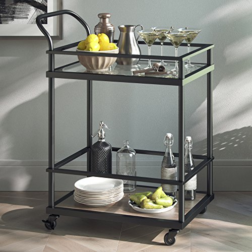 Nathan James 45001 Carter Serving, Bar Cart, Black