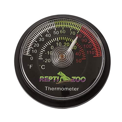 REPTI ZOO 温度計 爬虫類 両生類用 ペット飼育用 乾燥対策 熱中症対策 小型 バッテリ不要