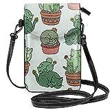 Cactus Cats - Bolso bandolera pequeño y ligero, para teléfono celular, para mujeres y niñas, con práctico transporte