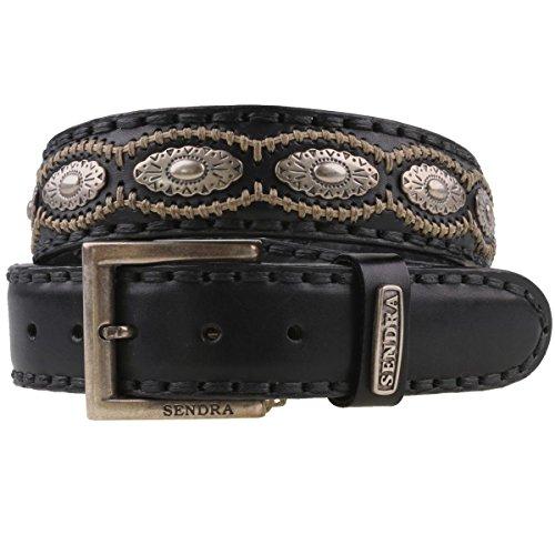 Sendra - 7606–ceinture en cuir noir - Noir - 105