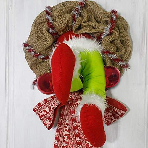 JIAL Weihnachtsdieb Weihnachts Sackleinen Girlande Fenster und Wandkranz Dekorationen Nette Home Door Dekoration (Size : 30cm),Größe:35cm Chongxiang