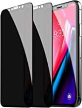 Asstar Privacy Screen Protector for Apple iPhone 11 (Xi) Max / 11 (Xi) Pro Max / Xs Max, Tempered Glass Full Coverage Cover Edge To Edge Anti Spy / Glare / Scratch Matte Black Film 6.5 Inch Case Friendly (2 Pack)
