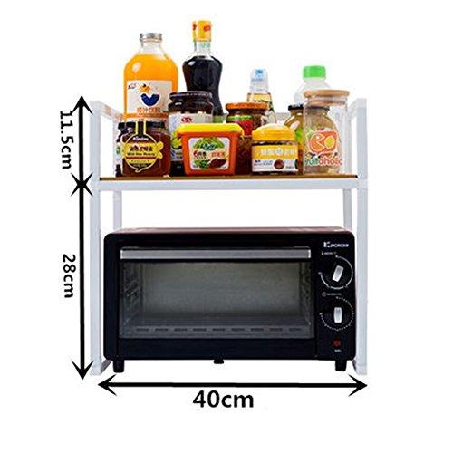 WENZHE Etagère De Cuisine Rangement Etagère D'angle Four À Micro-ondes Condiment Ustensiles De Pot Multifonction Accueil Stockage Blanc, Fer, 4 Tailles (taille : 40 * 38 * 39.5cm)