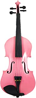 4/4 Full-Size Violin for Beginners Kids, Violin Learners And Enthusiasts, Full Size Instruments,Pink