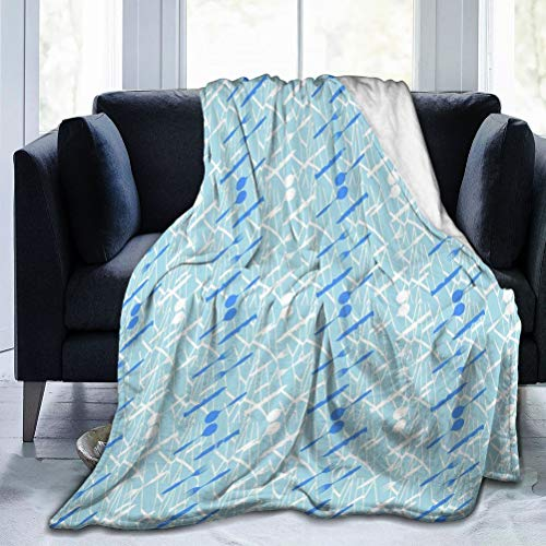 NYNELSONG Lightweight Ultra Soft Blanket Suitable for All Season Nice Colorful Background Cutlery Image represeting Table Set idea can be Used All Food Beverages 50'×40'