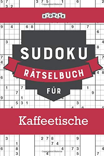 Sudoku Rätselbuch für Kaffeetische