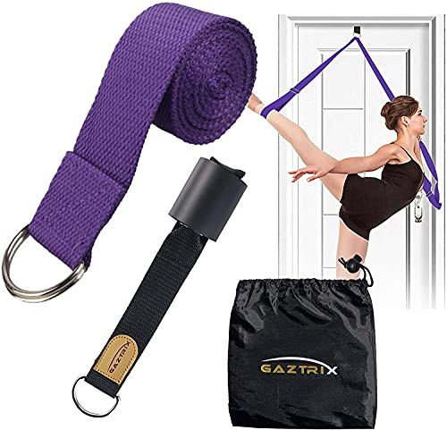 Stretch Bands for Exercise. Yoga Straps for Stretching with Loops. Stretch Strap for Physical Therapy, Dance and Gymnastic Exercise with Carry Bag by GTX