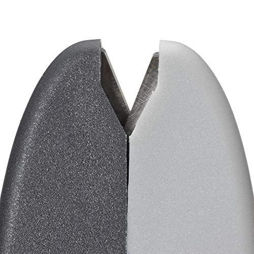 Victorinox Swiss Army Cutlery Handheld Manual Knife Sharpener, Finger Guard, Carbide Metal Plates, Multicolor (Grey/Black)