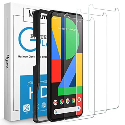Migimi Panzerglas für Google Pixel 4 XL Schutzfolie, [3 Stück] 9H Festigkeit Panzerglasfolie Bubble Free HD Klar Glas, [mit Positionierhilfe] Kratzfest Bildschirmschutzfolie für Pixel 4 XL [6,3