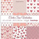Carta San Valentino 8,5 x 8,5 inch - 20,5 x 20,5 cm - 20 fogli